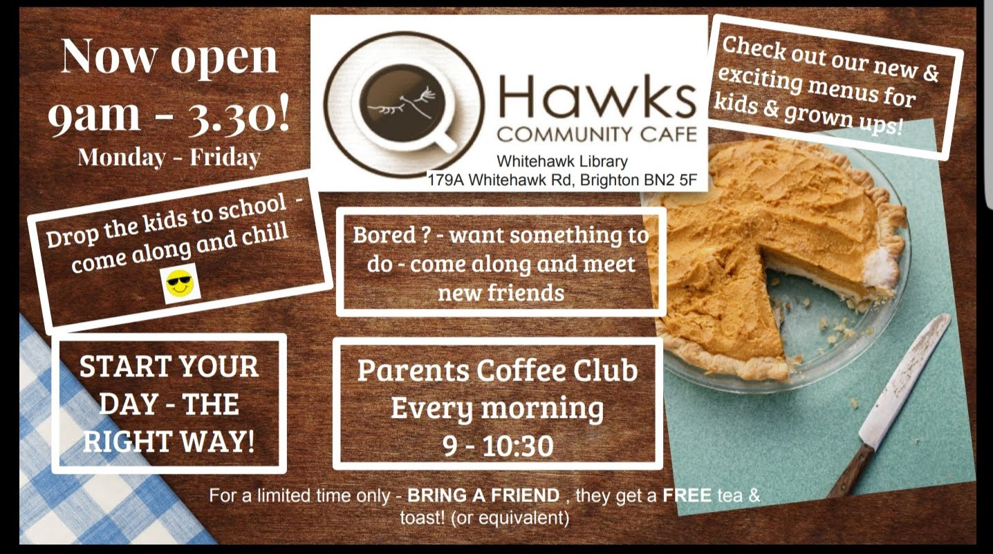 hawks cafe flyer